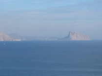 The Peñon d'Ifach; you can't miss its imposing bulk towering over the town of Calpe at its foot