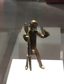 Bronze figurine from the 2nd century BC, found at Malladeta. This little guy was a votive offering to the gods, asking for health, protection or prosperity.