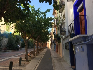 Carrer del Pal; long and straight so ideal for making fishing nets and rope, a traditional industry in La Vila.