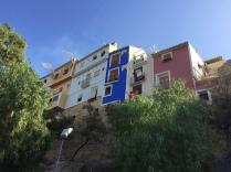 Casas pintadas on the town walls.