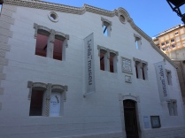 La Vila museum; the facade is all that remains of the old town school.