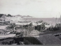 Shipyard on what is now Playa Varadero. La Vila was once one of the biggest shipbuilding towns in Spain.