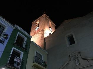 Nightime view of the church of Nuestra Señora de la Asunción