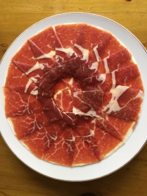 Jamón de cebo. Not the absolute best quality ibérico that money can buy, but still pretty fine. Look for the white label or tag.