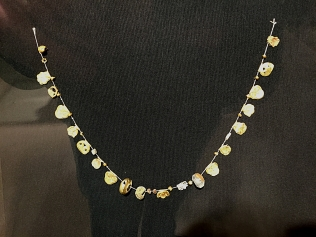 An exquisite Phoenician necklace, unearthed by archaeologists just across the river in Poble Nou.