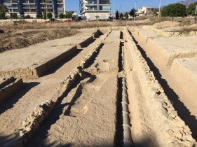 Roman road Malladeta, excavated in 2017 on the site of a new housing development, a few metres from the main N-332 road out of Villajoyosa.