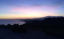 Stunning sunset 2, again looking south towards La Vila.