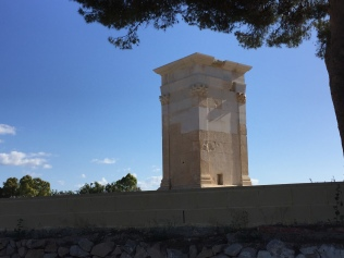 Torre de Sant Josep, recently restored to the way it might have looked in the Roman era (minus the pyramid that would probably have sat on top).