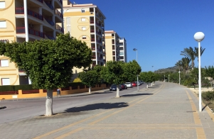 The unlovely tower blocks of Torres; the view out to sea is much nicer!