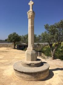 La Cruz de Piedra (the stone cross) La Ermita. Originally Roman, it has been fully restored