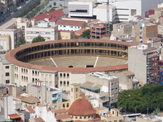 The Plaza de Toros from the castle