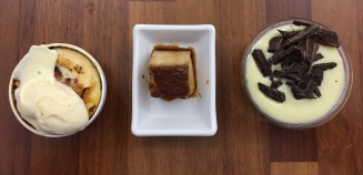 A selection of tiny desserts (postres) for €1 each