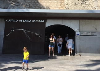 Entrance to the castle; take a ticket from the machine and walk about 100m to the lift