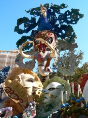 Giant masks and models parading through the streets for Hogueras. Picture via creative commons.