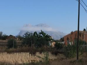 Puig Campana from La Ermita, just outside La Vila