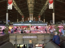 Mercado Central: upstairs for fresh meat and embutidos, downstairs for fish, fruit and vegetables