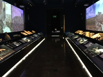 Subtly lit galleries with video panels showing how life might have been for ancient peoples on the Costa Blanca