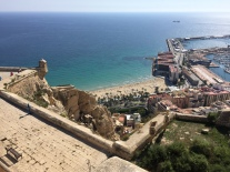Looking down on Postiguet beach from the highest point of the castle