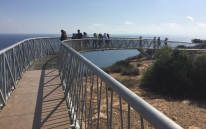 The skywalk that takes visitors out over the cliff edge, Cabo de Santa Pola