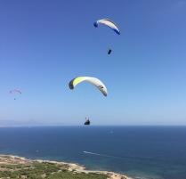 Paragliding over the cliffs of Santa Pola