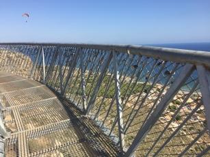 Dizzying views; it's 450 feet straight down!