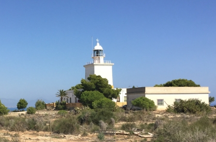 Santa Pola lighthouse. The flash of its light can be seen up to 30 km away.