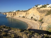 A nice secluded cove with some seriously expensive real estate on the top of the cliffs