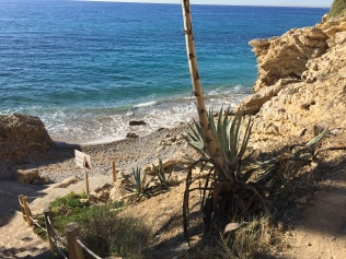 The nudist beach of Playa L'Esparrello