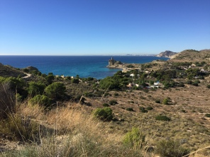 Platja del Xarco from the hills above Playa Caleta