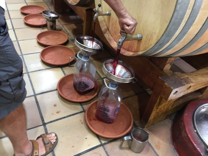 Cheap and cheerful: tourists and expats bring plastic containers and fill up direct from the barrel. Probably the cheapest way of buying wine on the Costa Blanca!