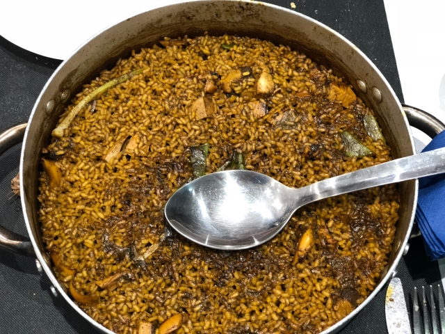 Arroz de bacoreta