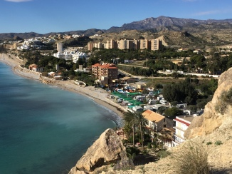 Stunning views southwards towards Alicante from the Malladeta headland, just below the ruined tower