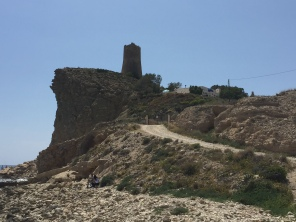 The 16th century watchtower on the clifftop at Playa del Xarco