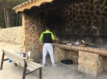 Barbeque area, Font de Molí. Bring food, charcoal and a firelighter and you're all set.