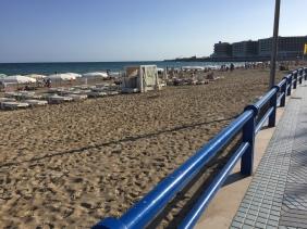 Playa del Postiguet; Alicante's beach. It can get pretty crowded in high summer