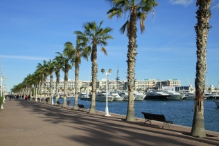 Stroll along the marina front and turn right at the end for the bars, restaurants and nightlife.
