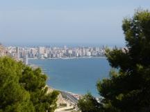 The view across to Albufereta and Playa San Juan