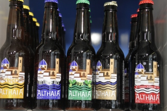 Althaia craft beer from just up the coast in Altea, stocked at Ca Barto in the Mercado Central, Villajoyosa.