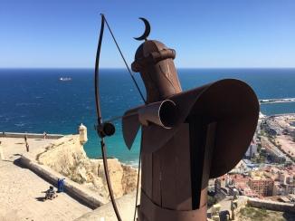 A Moorish warrior with bow drawn