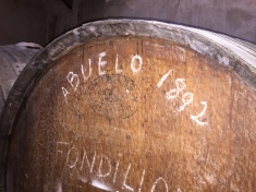 El Abuelo: this tonel (barrel) has been producing fondillón since 1892!