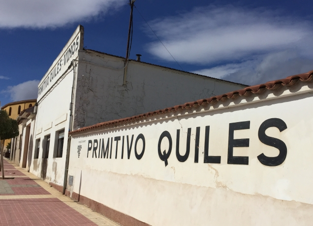 The Primitivo Quiles bodega in Monóvar. They don't run tours or tastings, but drop by for a taste and to buy direct.