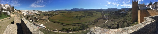 Looking out onto open countryside from Ronda's ramparts