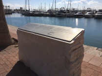 The memorial to the heroes of the British steamship Stanbrook, who rescued almost 2,000 Republican refugees in the last days of the Spanish civil war