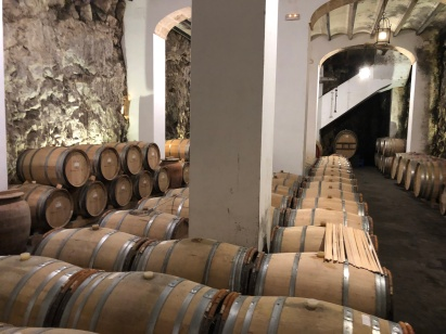 The cellars at Bodega Gutierrez de la Vega, Parcent