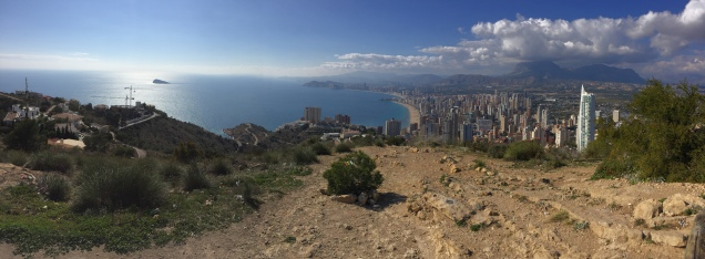 The amazing panorama from the foot of the Benidorm Cross