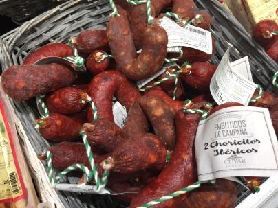 Small chorizo sausages, a Spanish classic