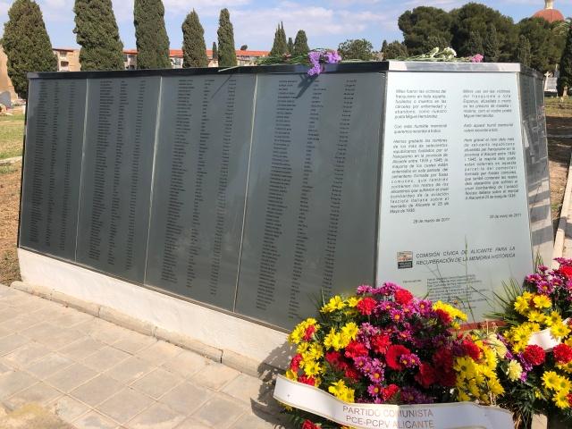 Alicante cemetery Republican memorial