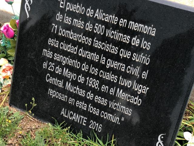 Memorial Alicante cemetery