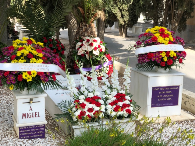 The grave of Miguel Hernández, Alicante cemetery