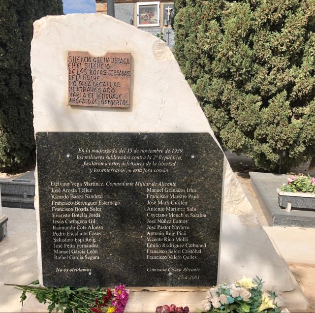 Memorial cementerio Alicante